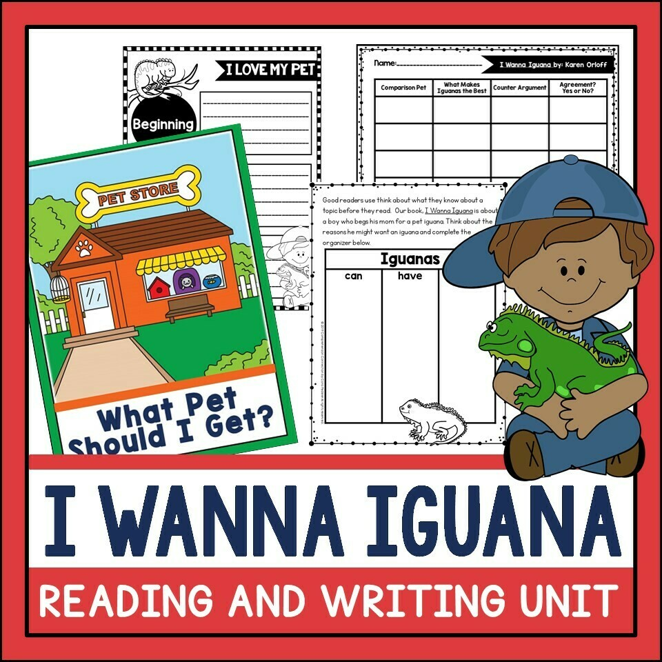 I Wanna Iguana Mentor Text Lesson