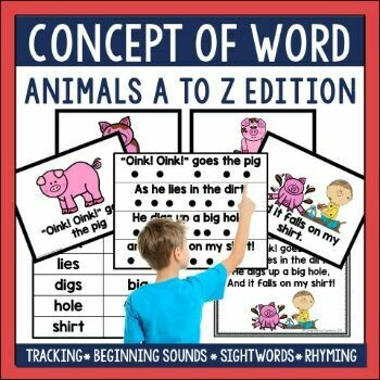 Concept of Word Animals A to Z Bundle