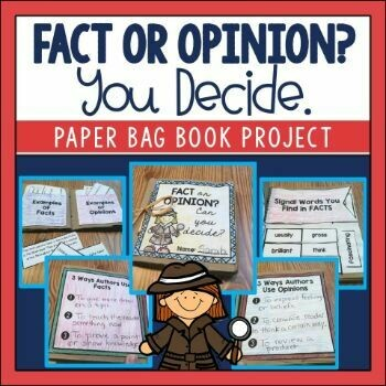 Fact and Opinion Paper Bag Book
