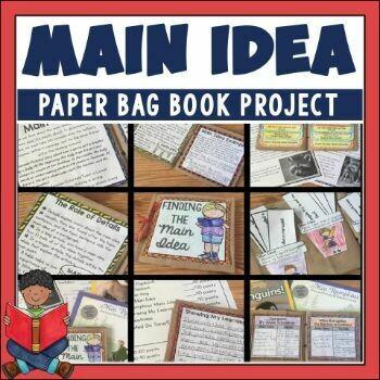 Main Idea Paper Bag Book