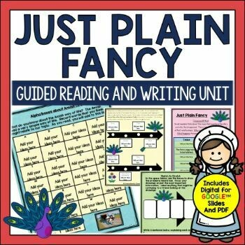 Just Plain Fancy Book Activities