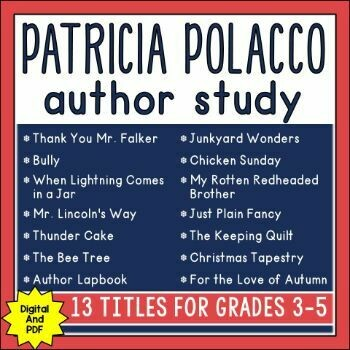 Patricia Polacco Author Study with 13 Units (PDF only)