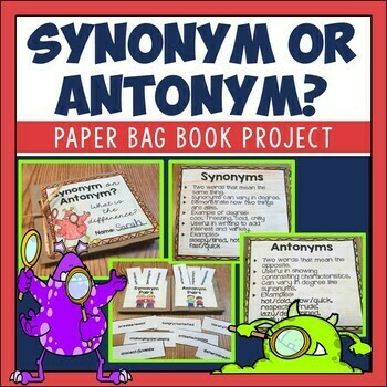 Synonyms and Antonyms Paper Bag Book