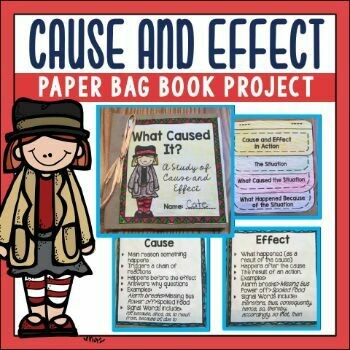 Cause and Effect Paper Bag Book