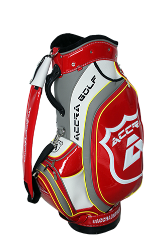 ACCRA Red and White Staff Bag