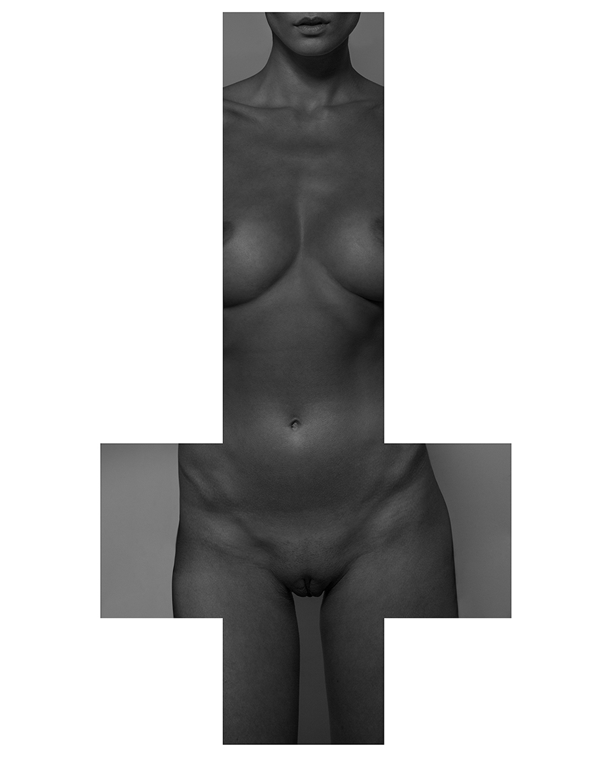 NUDE IN UPSIDE DOWN CROSS 00017