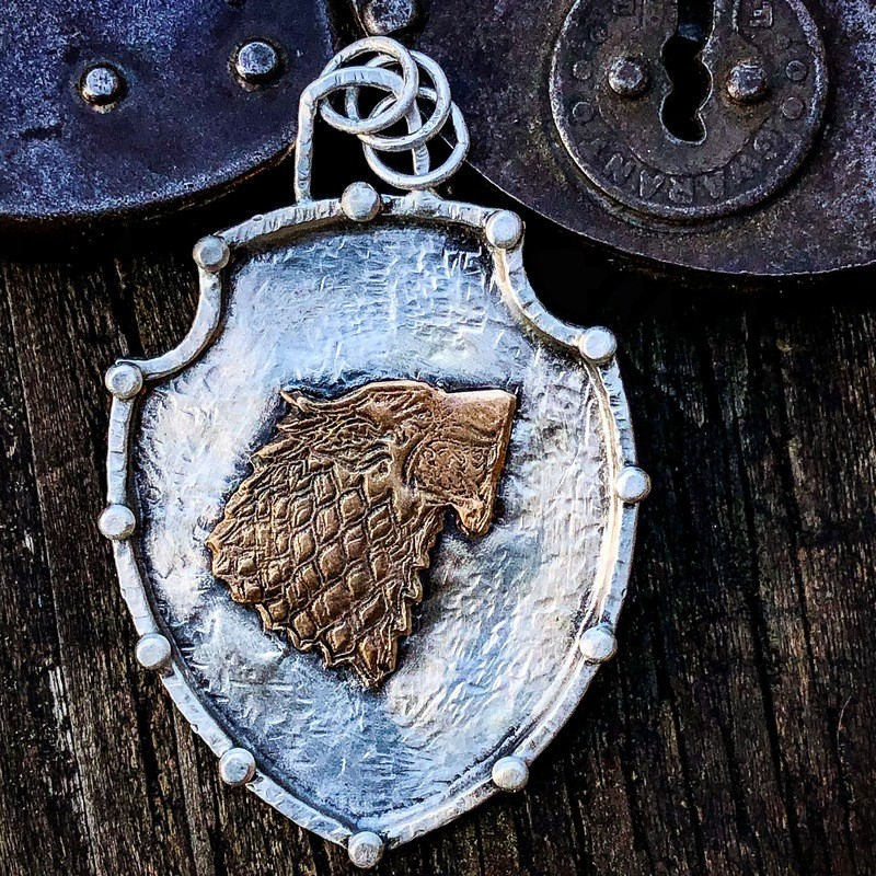 Dire Wolf Shield Pendant
