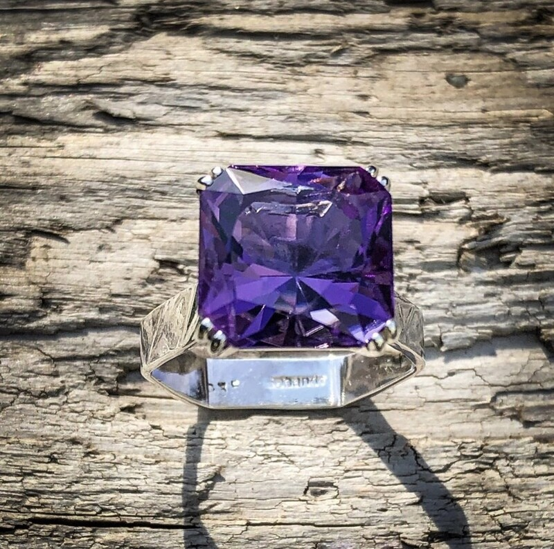 7ct Amethyst Ring