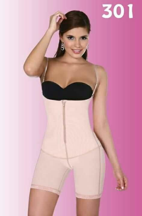 ecd3e1477f Vedette Ref-301 Mid Thigh Body Shaper With Buttock Enhancer Beige Color.