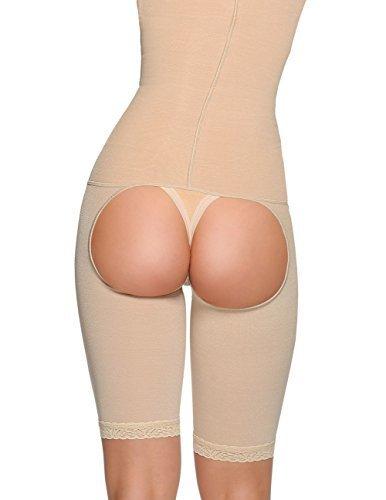 6009b1b5f06e8 Vedette Ref-345 Firm Control High Back Full Body Shaper w  Butt Derriere  Enhancer