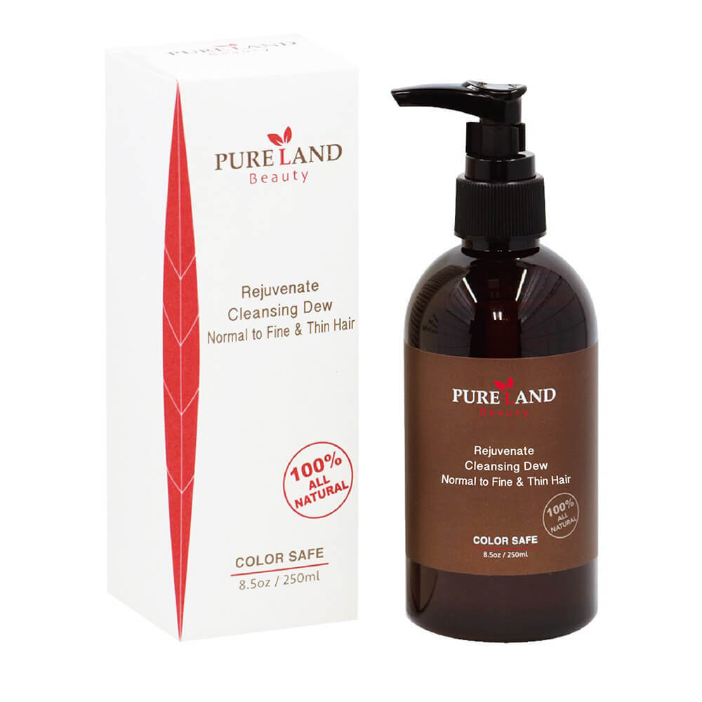Pureland Beauty Rejuvenate Cleansing Dew and Therapy Blow Cream Set - All Natural Shampoo Can be used for Hair, Face and Body | Leave-In Hair Repair Treatment - Heal, Smooth and Protect