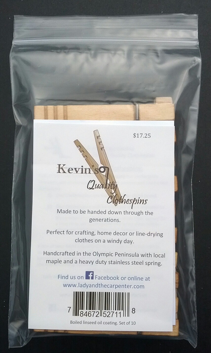 Kevins Quality Clothespins (Factory Firsts)