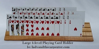 Large Playing Card Holder-- Set of One