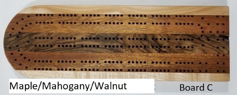 Classic 5-Board Cribbage Board