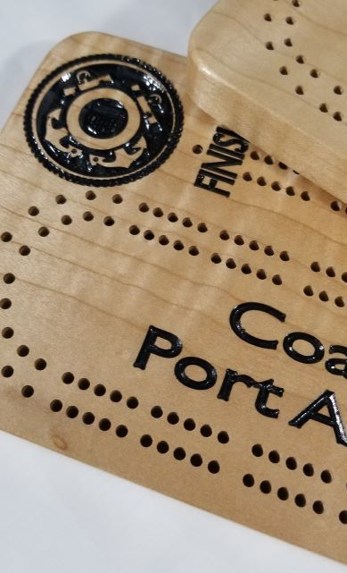 Logo Themed Cribbage Boards