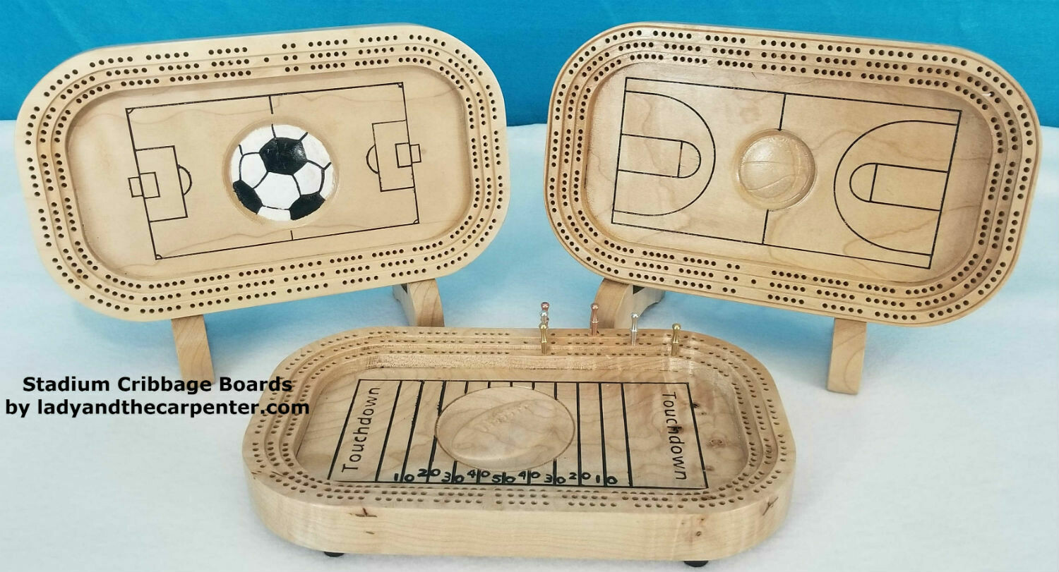 Stadium Cribbage Boards
