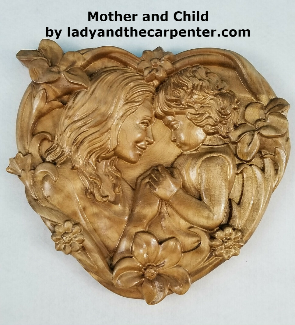 """""""Mother and Child"""" 3D Wall Art"""