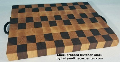 End-Grain Butcher Block with handles