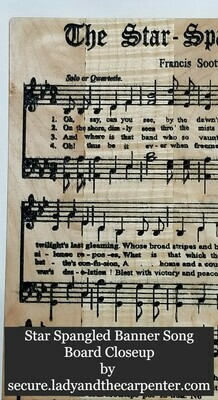 Patriotic and Military Song Boards