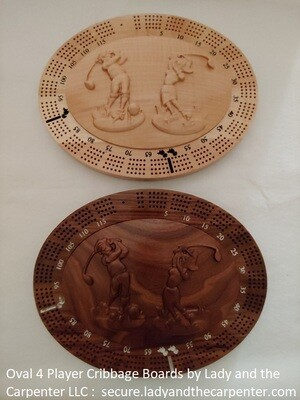 Oval Cribbage 4 Player