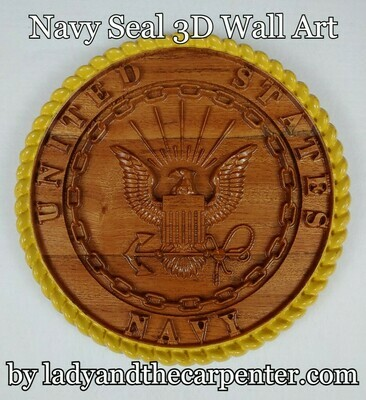 Military Seals 3D Patriotic Wall Art