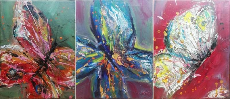 Set 3 tablouri abstracte