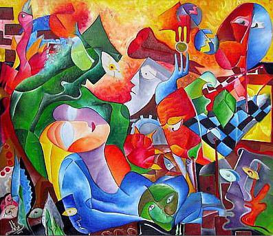 Tablou peisaj modern abstract