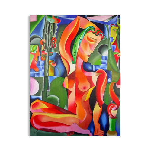 Tablou nud abstract