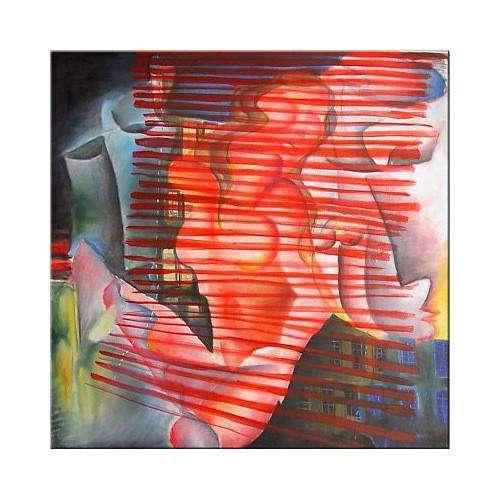 """Tablou modern """"Pasiune si Dorinta"""",120x120cm, pictat manual de DOBOS"""