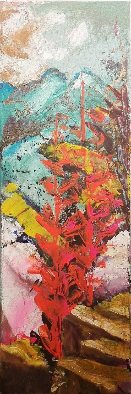 """Peisaj modern abstract gata de inramat """"Carare de munte"""" de DOBOS"""