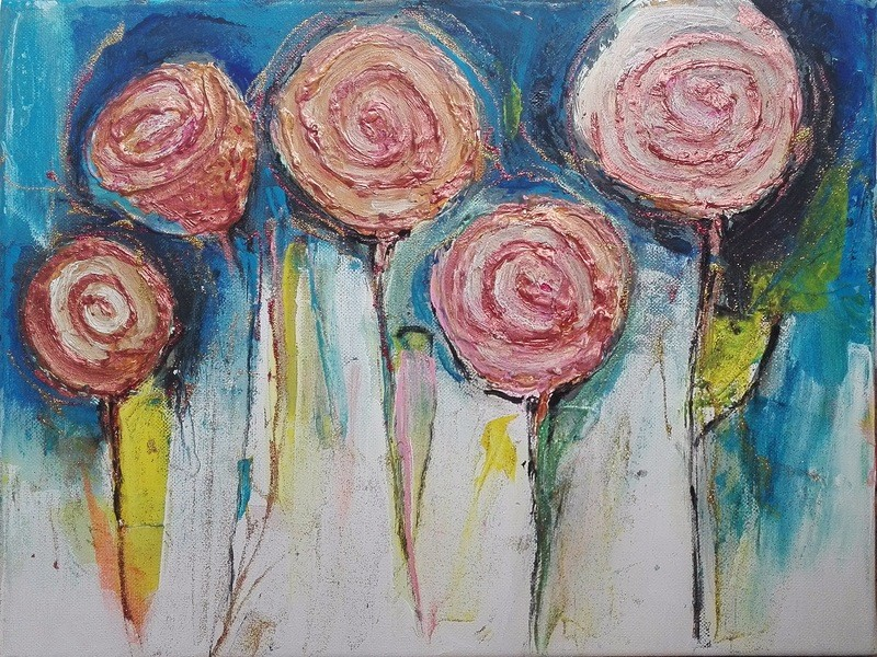 Tablou abstract floral