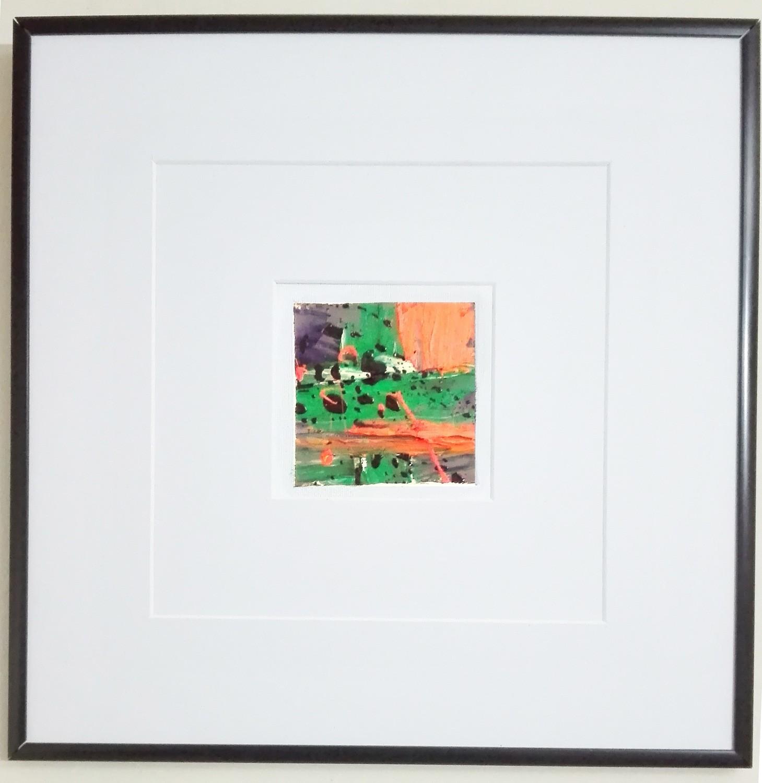 "Tablou abstract cu rama tehnica impasto ""Compozitie IV"" de DOBOS"
