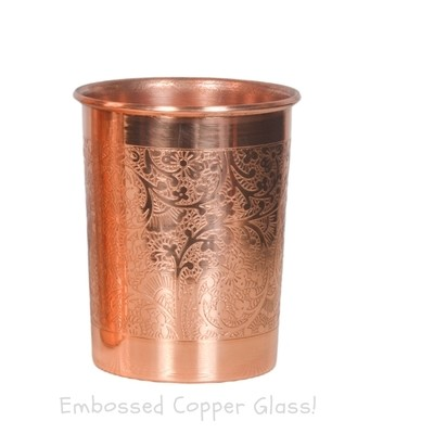 Pure Embossed Copper Glass