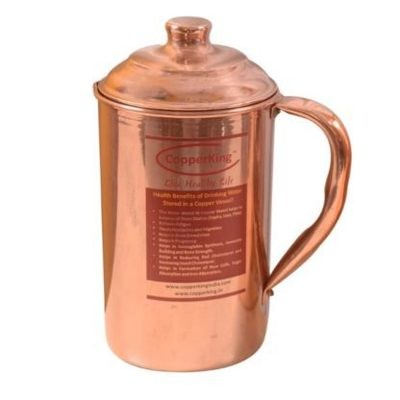 CopperKing Pure Copper Jug 1650ML, Water Drinking in Copper Vessel