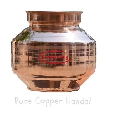 Copperking Pure Copper Handa/Pot 6.5Ltr, Water Drinking in Copper Vessel