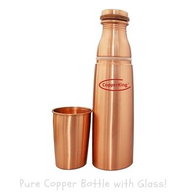 CopperKing Glass-Bottle Pure Copper Water Bottle 1000ml