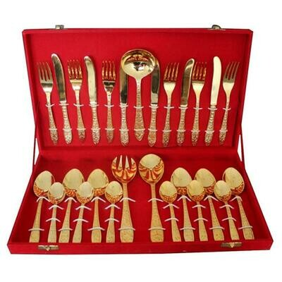 Brass Cutlery/Spoon Set With Gift Box