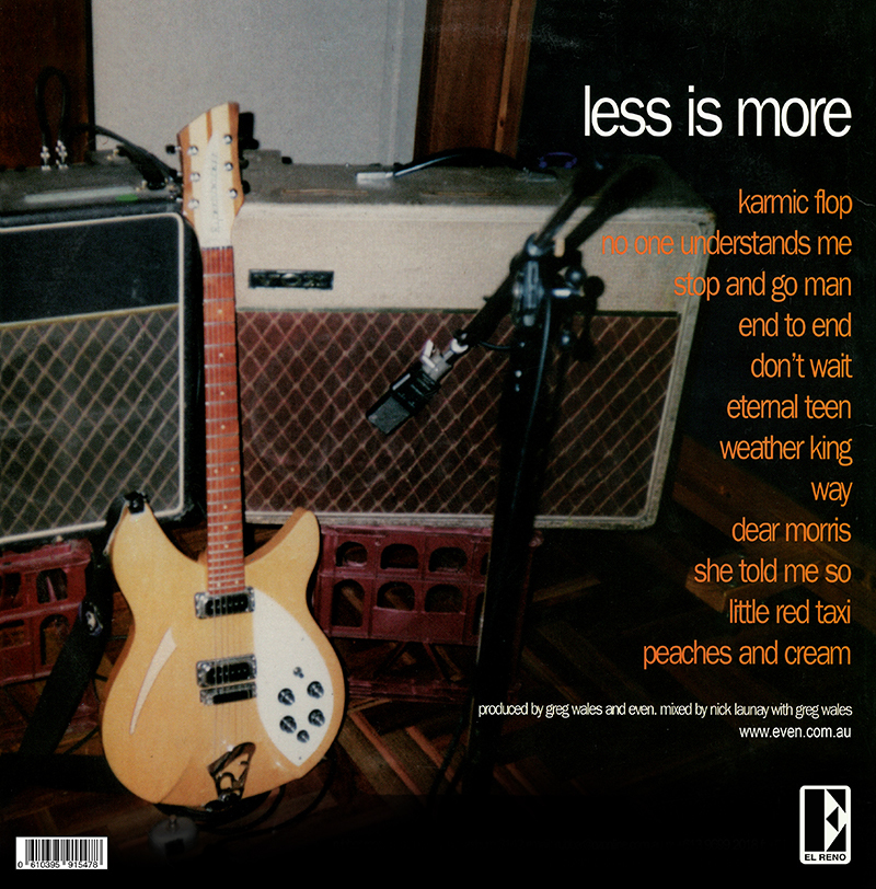 EVEN - Less Is More - 180 gram Black Vinyl Reissue LP - Limited Edition