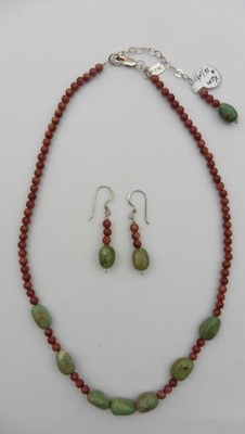 Goldstone & Turquoise Necklace & Earring Set
