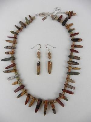 Red Creek Jasper Necklace & Earring Set
