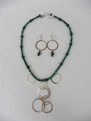 Malachite  Necklace & Earring Set