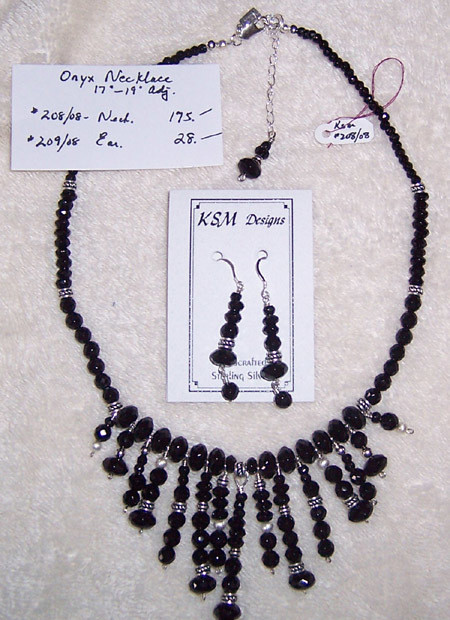 Onyx Necklace Set