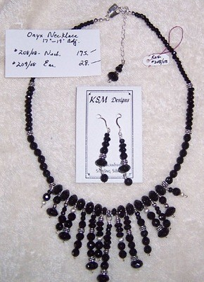 Onyx Necklace Set