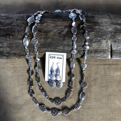 Pewter Necklace  & Earring Set