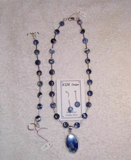 Lapis & Sterling Silver Necklace Set