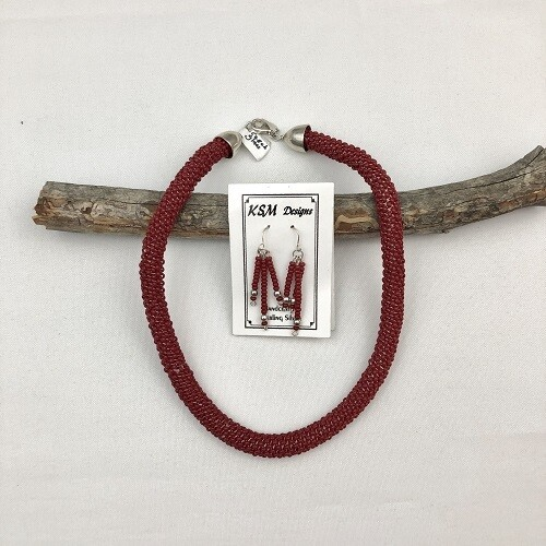 Czech Glass Necklace & Earring Set
