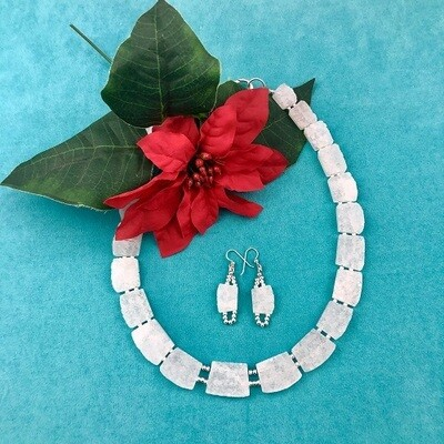 White Quartz Necklace & Earring Set