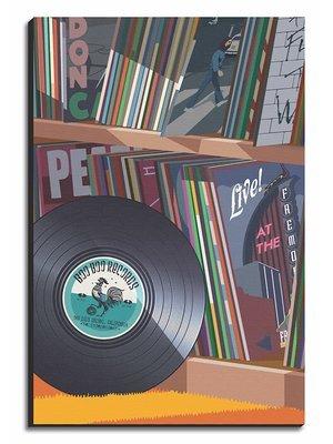 Boo Boo Records Collection Art Print - Small