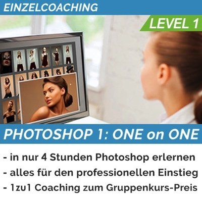 PHOTOSHOP 1 (BASICS): ONE on ONE