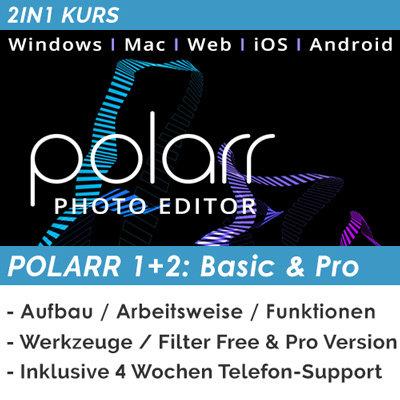 Polarr 1+2: Basics & Pro (Mobil)